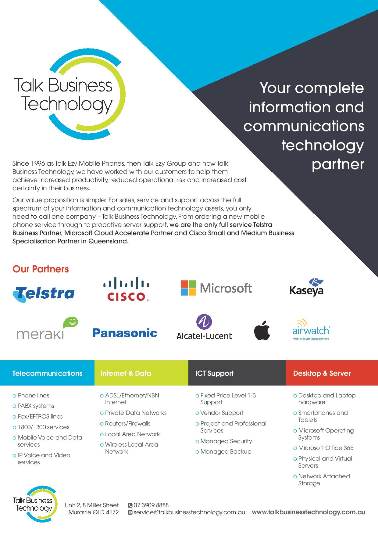 Welcome to Talk Business Technology